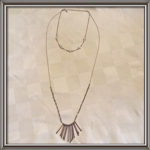 Silver Two-layer necklace